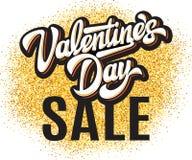 Calibre de couleur de vecteur pour la conception d'affiche à la vente de jour de la valentine s photos stock