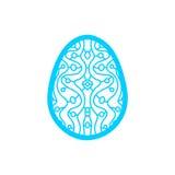 Calibre de coupe heureux de laser de Pâques pour des cartes de voeux illustration de vecteur