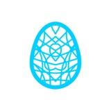 Calibre de coupe heureux de laser de Pâques pour des cartes de voeux Images libres de droits