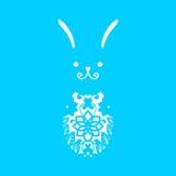 Calibre de coupe heureux de laser de Pâques pour des cartes de voeux illustration libre de droits