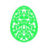 Calibre de coupe heureux de laser de Pâques pour des cartes de voeux Photos libres de droits