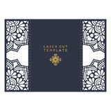 Calibre de coupe de laser de carte de mariage de vecteur Éléments décoratifs de cru Photographie stock