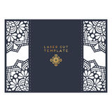 Calibre de coupe de laser de carte de mariage de vecteur Éléments décoratifs de cru Photos libres de droits