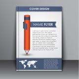 Calibre de couverture avec le crayon et le ruban Images libres de droits