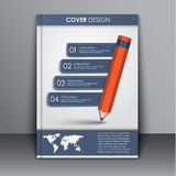Calibre de couverture avec le crayon et le ruban Photographie stock libre de droits