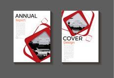 Calibre de couverture moderne abstrait rouge de brochure de couverture de livre de conception moderne de cercle de fond de couver illustration libre de droits