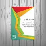 Calibre de couverture moderne de livre d'abrégé sur vecteur Vecteur de fond abstrait moderne Images stock