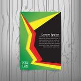 Calibre de couverture moderne de livre d'abrégé sur vecteur Vecteur de fond abstrait moderne Images libres de droits
