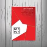 Calibre de couverture moderne de livre d'abrégé sur vecteur Vecteur de fond abstrait moderne Photo libre de droits