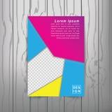 Calibre de couverture moderne de livre d'abrégé sur vecteur Vecteur de fond abstrait moderne Photographie stock