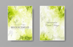 Calibre de couverture organique naturel de brochure illustration stock
