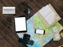 Calibre de déplacement d'affaires de maquette Image libre de droits