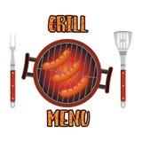 Calibre de design de carte de menu de gril Photo stock