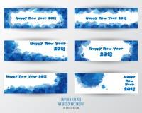 Calibre de design de carte de salutation avec le texte moderne pendant 2018 nouvelles années Photos stock