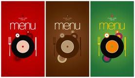 Calibre de design de carte de menu. Photos stock