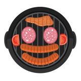 Calibre de design de carte de menu de BBQ Moquerie créative de barbecue  Photo libre de droits