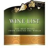 Calibre de design de carte de menu de carte des vins Photos libres de droits