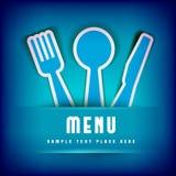 Calibre de design de carte de menu de restaurant Photos libres de droits