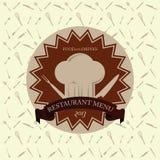Calibre de design de carte de menu de vintage de restaurant de vecteur Photos libres de droits