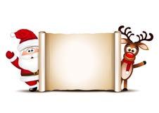 Calibre de design de carte de Noël Santa Claus et Photographie stock