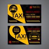 Calibre de dessin de carte d'entreprise de services de collecte de taxi Créez vos propres cartes de visite professionnelle de vis Photos stock