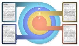 Calibre de diagramme d'Infographic avec les cercles concentriques Pour le web design, présentation, graphique, diagramme, rapport Photographie stock libre de droits