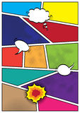 Calibre de disposition de blanc de style de popart de bandes dessinées illustration libre de droits
