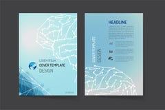 Calibre de disposition de brochure et conception de fond Photographie stock