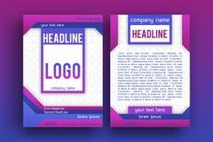 Calibre de disposition de conception de brochure de vecteur Photo libre de droits