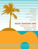 Calibre de fête d'affiche de musique de vacances illustration de vecteur