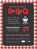 Calibre de fête de naissance de barbecue de bébé-q illustration stock
