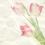 Calibre de fleurs de papier de vintage. ENV 10 Image stock