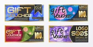 Calibre de fond de carte de bon de bon de chèque-cadeaux Photo libre de droits