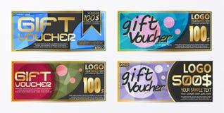 Calibre de fond de carte de bon de bon de chèque-cadeaux Photographie stock libre de droits
