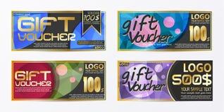 Calibre de fond de carte de bon de bon de chèque-cadeaux Images libres de droits
