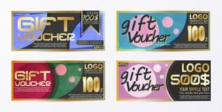 Calibre de fond de carte de bon de bon de chèque-cadeaux Photographie stock