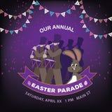 Calibre de fond d'annonce de défilé de Pâques illustration de vecteur