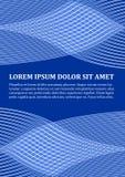Calibre de fond dans la conception bleue moderne avec des formes onduleuses abstraites, ligne blanche conception, endroit pour le Photographie stock