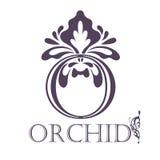 Calibre de fond de fleur Lotus Symbol logo Photos libres de droits