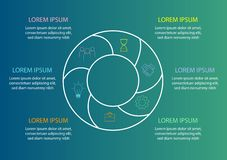 Calibre de graphique circulaire - entourez le diagramme pour le rapport ou la présentation de gestion statistiques illustration libre de droits