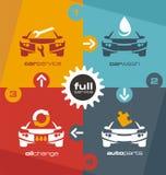 Calibre de graphique d'infos de service de voiture Photographie stock libre de droits