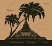 Calibre de graphique de bâtiments de ville Naypyidaw burma illustration stock