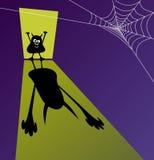 Calibre de Halloween avec le petit zombi moulant l'ombre effrayante énorme illustration libre de droits
