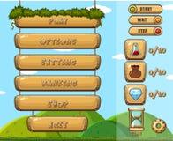 Calibre de jeu avec différents boutons Photo stock