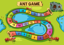Calibre de jeu avec la colonie de fourmi à l'arrière-plan illustration de vecteur