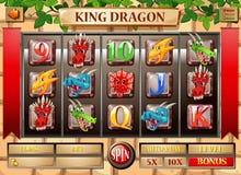 Calibre de jeu avec le thème de dragon illustration de vecteur