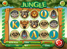 Calibre de jeu d'ordinateur avec le thème de jungle illustration libre de droits