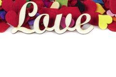 Calibre de jour de valentines avec des coeurs sur le blanc Photographie stock