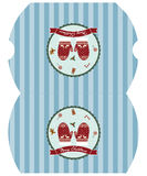 Calibre de Joyeux Noël de boîte-cadeau Image stock