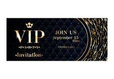 Calibre de la meilleure qualité de conception de carte d'invitation de VIP illustration de vecteur